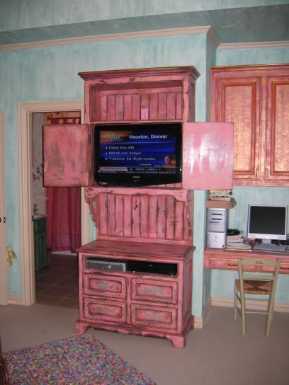 Pink Cabinet Open